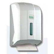 Диспенсер для туалетной бумаги (листовой), белого цвета. фото