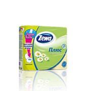 Туалетная бумага Zewa Plus Жёлтая Ромашка 2-х сл. 4рул. 23м (х24) фото