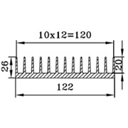 Радиаторный профиль - 122х26, 1 метр фото