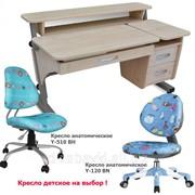 Парта и анатомические кресла. Регулируемый комплект для детей фото