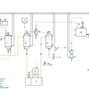 Линия рафинации и дезодорации растительного масла L-3T/D, 3000 кг/сутки фото
