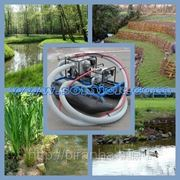 Мини земснаряды для берегоукрепления георешеткой, габионами, геотубами, шпунтом фото