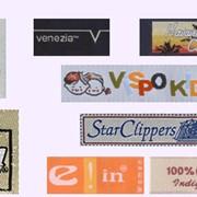 ЭТИКЕТКИ-жакардовые,картонные ярлыки,бумажные пакеты,пластиковые клипсы.С вашим логотипом. фото