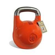 Гиря чемпионская Titan 30 кг (Оранжевая с красной полосой) фото