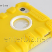 Чехол Hoco for iPhone 4/4S Silicon Silica-Gel Back case Yellow (HI-T002Y), код 46348 фото