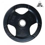 Диск обрезиненный DFC, чёрный, 51 мм, 10кг WP015-51-10 фото