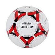 Мяч футбольный 250-270г, №5, PVC, shine, 1слой Т53107 фото