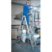 Лестницы-стремянки алюминиевые полупрофессиональные Krause Solidy арт.126269 8 ступенек фото