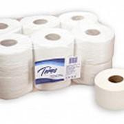 Бумага туалетная 1-слойная белая 200 м Терес Эконом mini фото