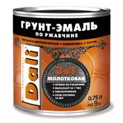 Грунт-эмаль по ржавчине DALI с молотковым эффектом фото