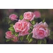 Стразы Пышные розы. Частичная выкладка, 74x53, Leisuretime фото