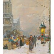 Название картины «Воскресный день» Продажа живописи современных художников, Заказ картин фото