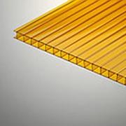 Сотовый поликарбонат 6 мм оранжевый Novattro 2,1x12 м (25,2 кв,м), лист фото