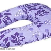 """Подушка для беременных Light Exclusive """"Фиолетовая с рисунком"""" фото"""