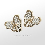 Серьги с бриллиантами E28488-3 фото