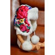 Шапка ушанка с мехом кролика фото