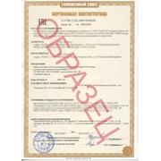 Сертификат соответствия Таможенного союза фото