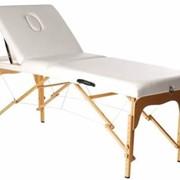 Стол деревянный массажный (белый) фото