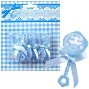 Фигурка декоративная Погремушка голубая 6,5см 6шт фото