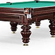 Бильярдный стол для русского бильярда Turin 10ф (махагон) фото