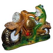 Фигура Лягушка мотоциклист фото