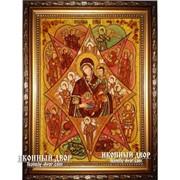 Неопалимая Купина - Красивейшая Икона Из Янтаря, Ручная Работа Код товара: Оар-40 фото