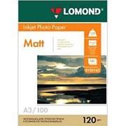 Фотобумага односторонняя матовая для струйной печати А3, 120 г\м2, 100 листов фото