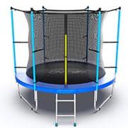 Батут с внутренней сеткой и лестницей EVO JUMP Internal 8ft (Blue) фото
