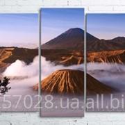 Модульна картина на полотні Вулкан Бромо. Індонезія код КМ100200(176)-104 фото