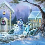 Картина по номерам Два снеговичка фото