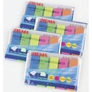 Закладки SIGMA 45х12 5цв*25л, 4шт фото