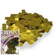 Конфетти фольгированное Прямоугольники золото 2*5см 100гр фото