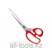 Ножницы Зубр Мастер изогнутые хозяйственные, двухкомпонентные ручки, 190мм Код:40442-19 фото