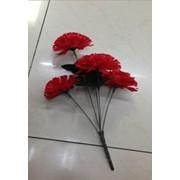 Цветы искусственные 6 бутонов гвоздики 0238A-9 фото