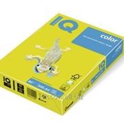 Бумага цветная iq color A4, 80г/м2, neogb-желтый NEOGB-80 фото
