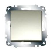 Выключатель 2-х полюсный с подсветкой ZENA модуль титановый 609-011400-236 фото