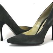 Туфли женские классические серые фото