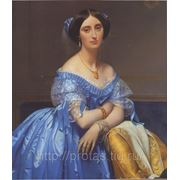 Жан Огюст Доминик Энгр Портрет принцессы Альбер де Броли- великий художник