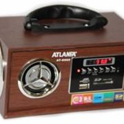 Портативная колонка ATLANFA AT-8960 c USB, SD, AUX и FM работает от сети фото