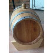 Дубовая бочка для вина, коньяка, 25л фото