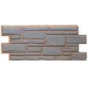 Фасадные панели T-Сайдинг, коллекция «Дикий камень» серый, 1090х455 фото