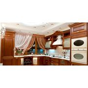 Изготовление встроенной кухонной мебели на заказ фото