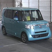 Микровэн турбо HONDA N BOX кузов JF1 класса минивэн модификация G Turbo L гв 2014 пробег 133 т.км светло-синий фото