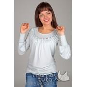Блуза с рюшем фото