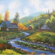 Картина Речка летом фото