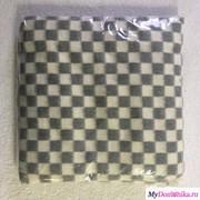 Детское байковое одеяло Серая мелкая клетка (57-3ЕТ, 100х140) фото