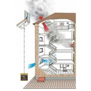 Монтаж систем дымоудаления и огнезащиты фото