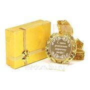 """Медаль """"с днем рождения дорогому шефу"""" диаметр=7 см (850448) фото"""
