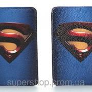 Кожаная обложка на паспорт Супермена 156-155340 фото