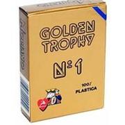 """Карты для покера """"Modiano Golden Trophy"""" 100% пластик, Италия, синяя рубашка фото"""